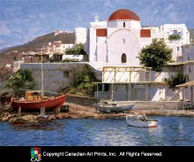 Mykonos I poster print by George Bates