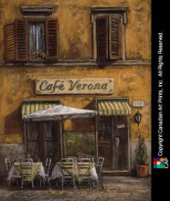Cafe Verona poster print by Malcolm Surridge