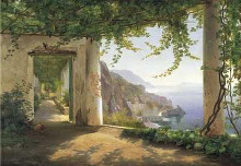 View To The Amalfi Coast poster print by Carl Frederic Aagaard