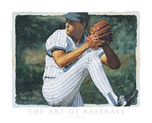 Art Of Baseball - The Pitcher poster print by Glen Green