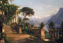 Lodge On Lake Como poster print by Carl Frederic Aagaard