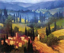 Tuscan Valley Vlew poster print by Philip Craig