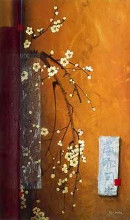 Oriental Blossoms III poster print by Don Li-Leger