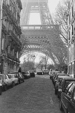 Street View Of La Tour Eiffel poster print