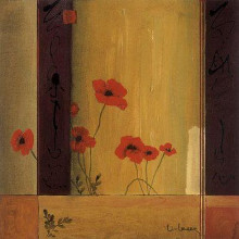 Poppy Tile II poster print by Don Li-Leger