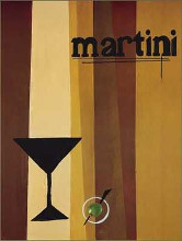 Groovy Martini I poster print by Celeste Peters