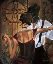 Evening Tango poster print by Trish Biddle