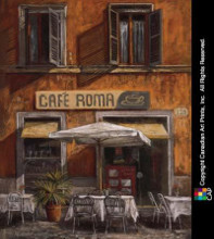 Cafe Roma poster print by Malcolm Surridge
