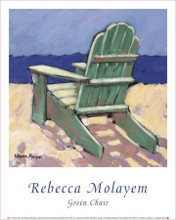 Green Chair poster print by Rebecca Molayem