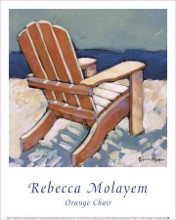 Orange Chair poster print by Rebecca Molayem
