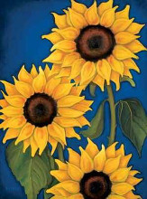 Sunflowers poster print