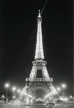 Eiffel Tower At Night poster print