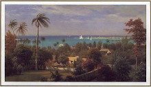 Bahamas Harbour 1882 poster print
