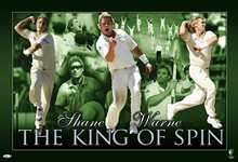 Shane Warne The King of Spin poster print