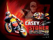 Casey Stoner poster print by  Unknown