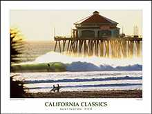 Huntington Pier poster print by Dennis Junor