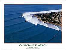 Rincon Point poster print by Woody Woodworth