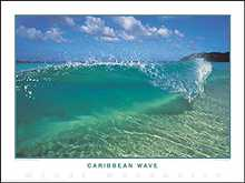 Caribbean Wave poster print by Woody Woodworth
