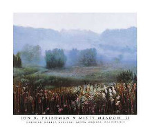 Misty Meadow II poster print by Jon R Friedman