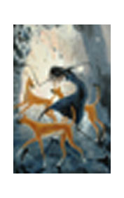 Desert Dancer With Dingoes poster print by Judy Prosser