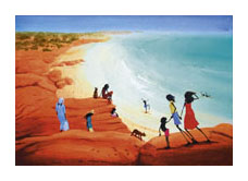 The Beach poster print by Judy Prosser