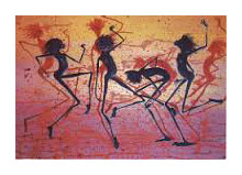 Cave Dancers poster print by Judy Prosser