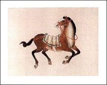 Dynastic Horses I poster print by  Arcadia Prints