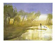 Billabong at Dusk poster print by Judy Prosser
