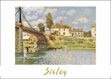 Bridge At Villeneuve-La-Garenne poster print by Alfred Sisley