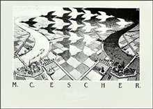 Day And Night poster print by M.C. Escher