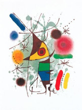 Chanteur poster print by Joan Miro
