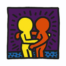 Untitled 1987 poster print by Keith Haring