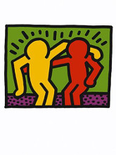 Best Buddies, 1990 poster print by Keith Haring