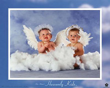 Heavenly Kids - Two Angels poster print by Tom Arma