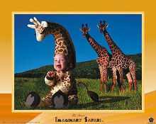Imaginary Safari - Giraffe poster print by Tom Arma
