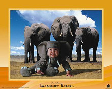 Imaginary Safari - Elephant poster print by Tom Arma