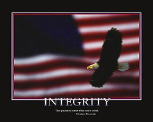 Patriotic - Integrity poster print by  Motivational
