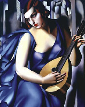 Femme a Guitare poster print