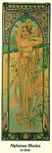 Jour poster print by Alphonse Mucha