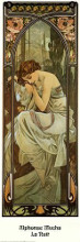 Nuit poster print by Alphonse Mucha