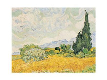 Wheatfield with Cypresses poster print by Vincent van Gogh