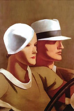 Couple Driving poster print by Marcello Dudovich