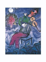 Blue Violinist poster print by Marc Chagall