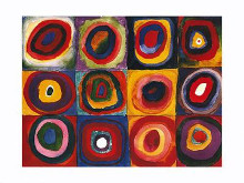 Color Study of Squares poster print by Wassily Kandinsky