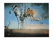 Temptation of Stanthony poster print by Salvador Dali