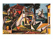 Paysage Mediterraneen poster print by Pablo Picasso