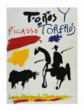 Toros Y Toreros poster print by Pablo Picasso