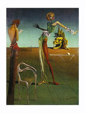 Woman with Head of Roses poster print by Salvador Dali