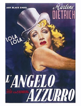 L'angelo Azzurro poster print by  Unknown