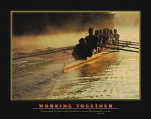 Working Together poster print